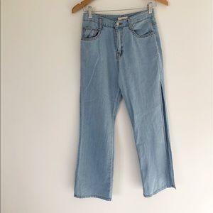 Vintage Limited large slits jeans boho festival S